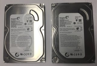 Two Seagate Pipeline HD 500GB drives, commonly used in DVRs