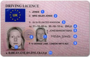 Front of the UK photocard driving licence explained